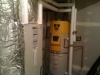 hydronic air handler and high efficiency water heater system