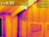 Infrared of air leakage at framing of home