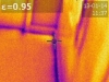 Infrared of air leakage at baseboard