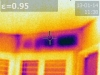 Infrared missing wall insulation above window at header