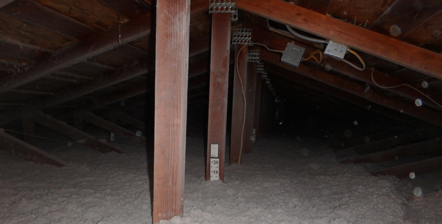 buried duct work attic insulation