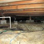 Damp soil in need of vapor barrier
