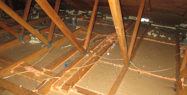 attic air sealing custom fit